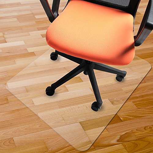 Azadx Chair Mat for Hardwood Floors, PVC Chairmat Protection Floor Mat 48