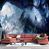 Papel pintado Hermoso y romántico Dreamland Elk Mural Sala de estar TV Papel tapiz Fondo Hotel Dormitorio Papel tapiz Mural-400x280cm