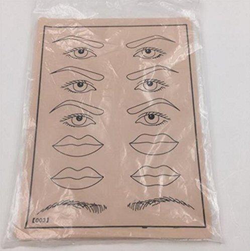 Chengyida Lot de 6 pinceaux de tatouage pour lèvres, sourcils, yeux 20 x 15 cm