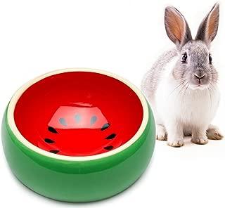 Mkono No-Tip Ceramic Rabbit Food Bowl Feeder for Guinea Pig Hamster Chinchilla