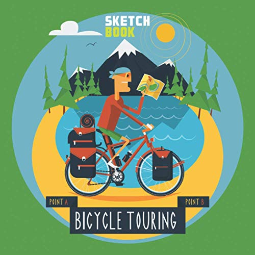 Bicycle Touring Sketch Book: A Large Square Sketchbook with Blank Graph Paper and White Paper - 100 Pages ( 8.5