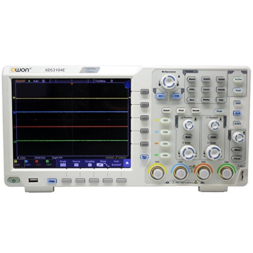 OWON XDS3104E Digital Oscilloscope 100Mhz DSO 4 Channels 1GS/S 8 BITS LCD with Touch Screen...