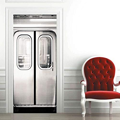 Türaufkleber 3D Modern Selbstklebende wasserdichte Poster Aufkleber Tür Tapete Tapete Home Design Raumdekoration Tür A8 86x200cm