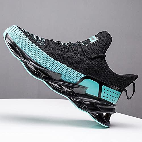 Fnho Botas de montaña Deportivas,Zapatos de Senderismo al Aire Libre,Zapatos Deportivos de Tendencia para Hombre, Zapatos Casuales Transpirables-Negro Blue_40