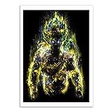 WALL EDITIONS Art-Poster - S S Goku - Barrett Biggers - Format : 50 x 70 cm