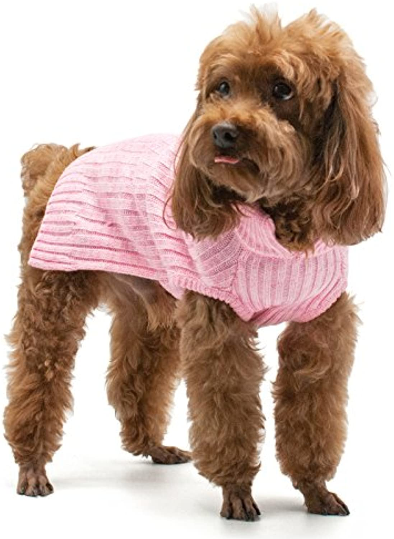 Basic Turtleneck Sweater (XSmall, Pink)