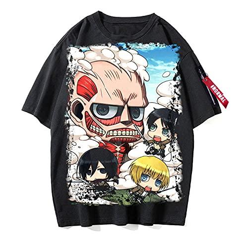 Camisetas Attack on TitanCamiseta Unisex de Verano para Mujeres y Hombres Inspirada en la Camiseta Japonesa de Anime Camiseta Japonesa de Anime CosplayT-Shirt Camisas