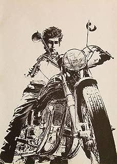 bob dylan motorcycle poster