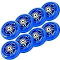 TOBWOLF 8er Pack 70mm 82A / 76mm 84A Roller Blade Räder Ersatz Inline Skate Räder mit Lagern ABEC 7