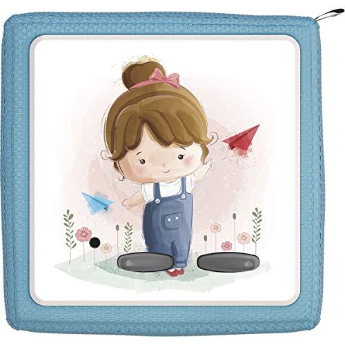 TheSmartGuard Schutzfolie passend für die Toniebox | Folie Sticker | Kleines Mädchen mit braunen Haaren und Blumen