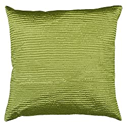 Surya PC-1006 Machine Made 100% Poly Satin Lime Pillow