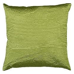 Surya PC-1006 Machine Made 100% Poly Satin Lime Pillow