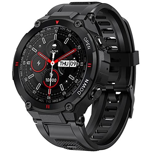 Orologio sportivo intelligente, impermeabile, con funzione di monitoraggio delle chiamate e cardiofrequenzimetro, orologio sportivo per Android e iOS