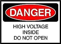 High Voltage Inside Do Not Open Danger 金属板ブリキ看板警告サイン注意サイン表示パネル情報サイン金属安全サイン