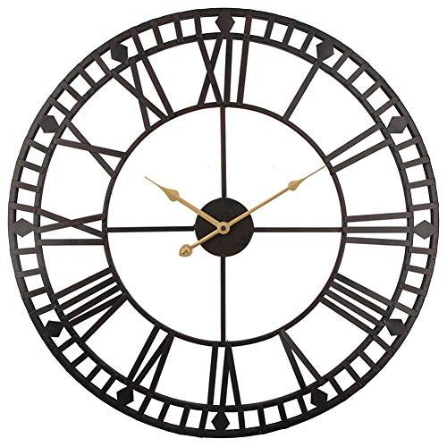 CCLLOO Horloge murale Murale Horloge Murale Vintage 60Cm Montre D'Horloge En Fer Forgé Industrielle En Métal Forgé Clokc Watch Saat