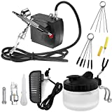 Airbrush Kit with Mini Compressor Airbrush Cleaning Kit- Dual-Action Airbrush Spray Gun, Airbrush