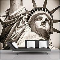 Xbwy 装飾壁画自由の女神像をカスタマイズ風景リビングルーム壁画テーマホテルKtv壁紙-150X120Cm