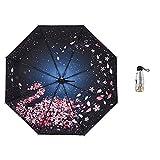 JUNDY Regenschirm Taschenschirm - sturmfest, windsicher -klein, leicht & kompakt, windsfest, 50% UV-Schutz Regenschirmfarbe 95cm