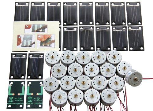 Klassensatz Solarantrieb Sonnenschein- mit Lötanschluss