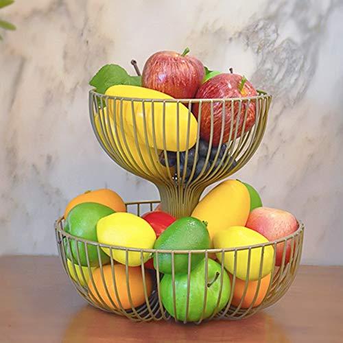 QTQHOME 2 Durable Frutero,Cocina Sarah Estante del almacenaje Orar Iglesias y los budistas Tabla La Torta Fruta Comida Soporte de la exhibición del Metálico 100% Pintar-H 27x35cm(11x14inch)
