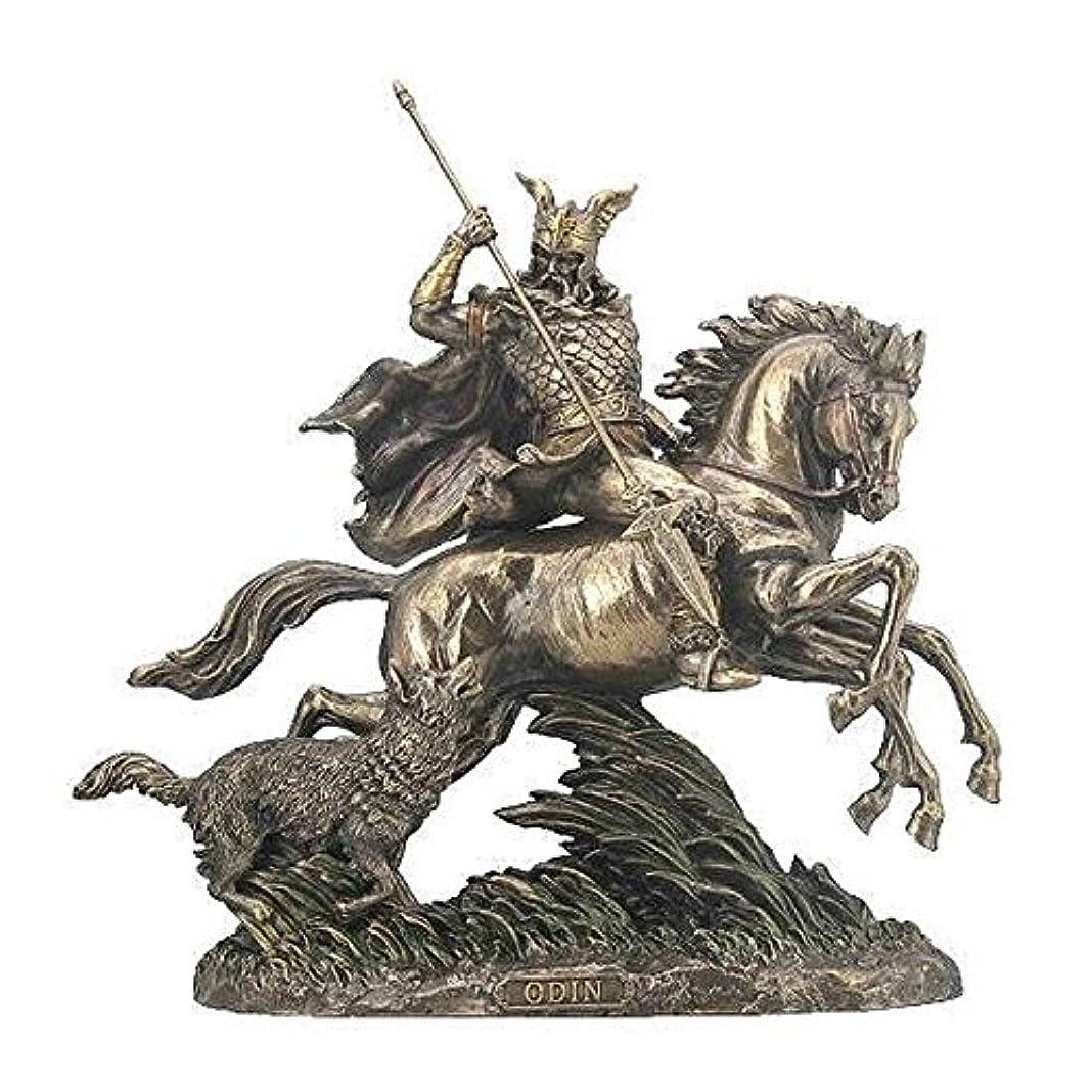 サンダース征服壮大なVeronese (ヴェロネーゼ) スレイプニルに乗るオーディン 狼 置物 フィギュア