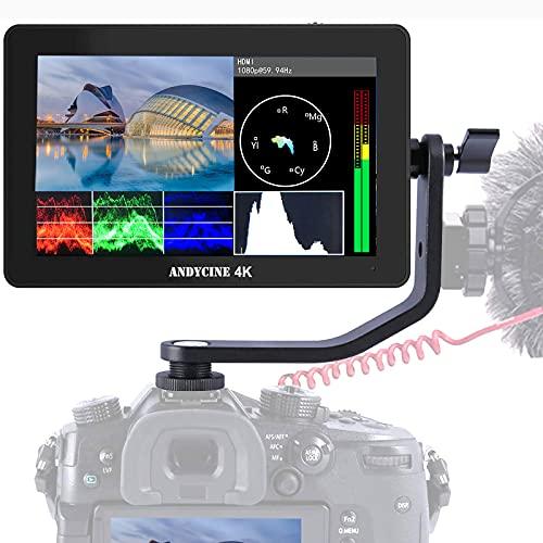 ANDYCINE A6 Plus V2 - Monitor táctil de 5,5 pulgadas con conector tipo C, 1920 x 1080 IPS, entrada HDMI 4K, salida de entrada y salida con forma de onda de salida, vector, A6 Plus V2