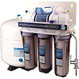 Bluonics 5 Stage Undersink Reverse Osmosis Drinking Water Filter System RO Home Purifier with NSF Certified Membrane and Clear Housings with 4 years of Filter Supply - 15 total Filters