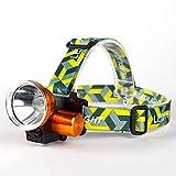 Super Bright LED Rechargeable Headlamp,High Cree 3000 Lumen Spotlight,18650 Battery Headlight Waterproof Searchlight Flashlight,3200mAh Outdoors Hunting,Camping,Hiking,Fishing Work Light