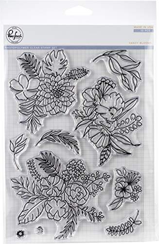 Pinkfresh Studio Clear Stempel-Set, 15,2 x 20,3 cm, ausgefallene Blüten