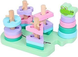 Shape Sorter Toy Geometric Wooden Crocodile Building Blocks Educational Preschool Montessori Toys Shape Color SOR. Qingchunw