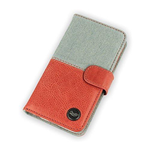 Qiotti QP-B-0110-03-IP6 Q.Book denim 2.0 Magic Vintage Jeans beschermhoes voor smartphone rood