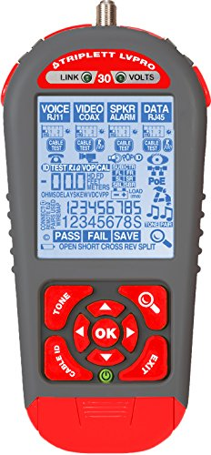 Triplett LVPRO30 Upgradeable Cable Tester with 12 Tester Apps for all Wire Types (COAX, CAT5/5e/6/6a/7, Shielded/Unshielded)