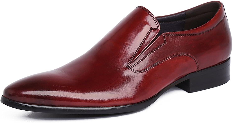Santimon Men's Genuine Leather Oxford Formal Dress shoes