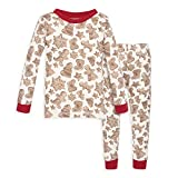 Burt's Bees Baby Baby Pajamas, Tee and Pant 2-Piece PJ Set, 100% Organic Cotton, Gingerbread, 3 Toddler
