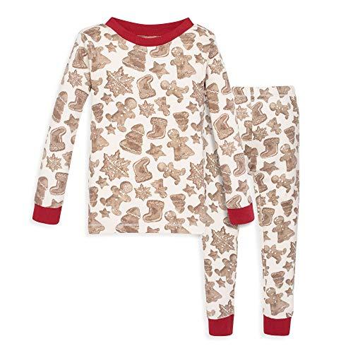 Burt's Bees Baby Baby Boy's Pajamas, Tee and Pant 2-Piece PJ Set, 100% Organic Cotton, Gingerbread, 12 Months