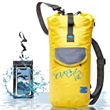 Waterproof Dry Bag for Camera - Submersible Backpack with Double Fixing Lock and Smart Storage - Drybags for Kayak Boating, Float, Canoe, and Other Water Activities (Yellow, 10l)