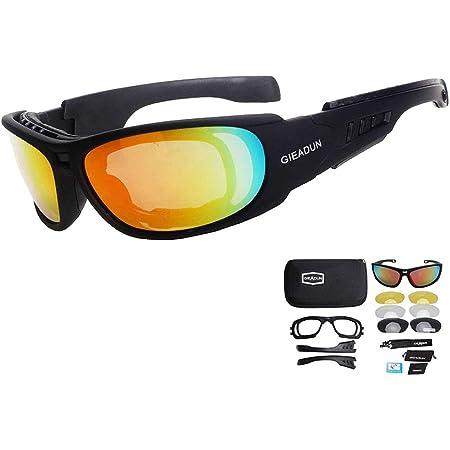 Httoar Shooting Brille Sicherheit Polarisierte Sonnenbrille Motorrad Fahren Angeln Laufen Radfahren Brille Skibrille Schwarz Sport Freizeit