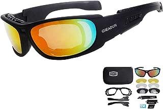 Gafas de Seguridad para El Sol de hípica con 4 Lente de conducción para Motocicleta Bicicleta Actividad al Aire Libre Deportes Caza