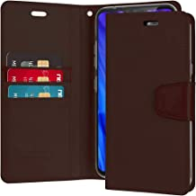 Goospery Sonata Wallet for LG V40 ThinQ Case (2018) Leather Stand Flip Cover (Brown) LGV40-SON-BRN