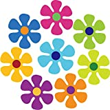 8 Pieces Magnetic Flower Fridge Magnets 70s Multi-Color Flower Magnet Bright Flower Mini Retro Flower Cutout Magnet for Home Wall Whiteboard Metal Car Refrigerator Decoration