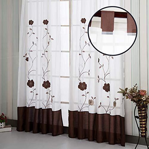 cortinas salon marrones