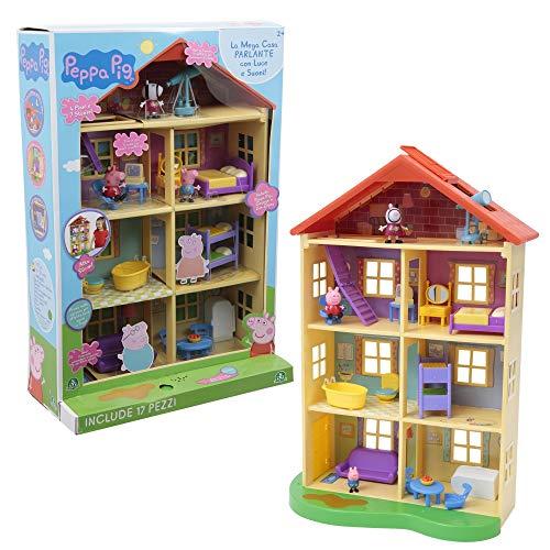 Giochi Preziosi PPC39000 Peppa Pig Mega Casa con 3 Personajes, plástico, 58,4 x 20,3 x 39,4 cm