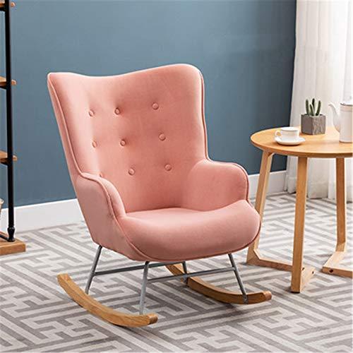Chyuanhua Schaukelstuhl Schaukelstuhl Nordische Art Schaukelstuhl Haushalt Kunst Nähen Sofa Erwachsene Nickerchen Balkon Liegestuhl Lazy Stuhl Geeignet um die Freizeit zu genießen