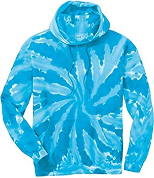 Joe s USA Hoodies Tie-Dye Hooded Sweatshirt,3X-Large Turquoise Tie-Dye