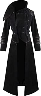 Mens Steampunk Victorian Coat Tailcoat Jacket Halloween Long Gothic Vintage Costume