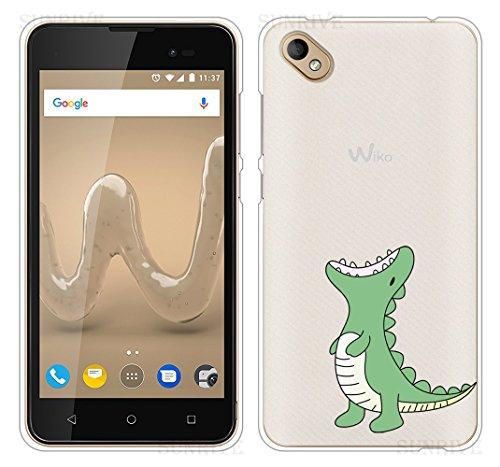 Sunrive Für Wiko Sunny 2 Plus Hülle Silikon, Handyhülle Schutzhülle Etui Hülle Backcover für Wiko Sunny 2 Plus 5,0 Zoll(TPU Dinosaurier)+Gratis Universal Eingabestift