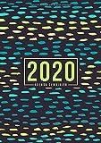 Agenda semainier 2020: Du 1er janvier 2020 au 31 décembre 2020 : aperçu hebdomadaire et mensuel, journal, planificateur & organiseur : Sarcelle et menthe gouttes de pluie 017-6