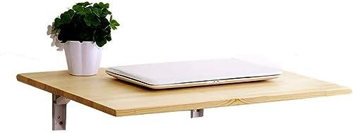Support mural en bois, table murale, bureau d'ordinateur pliable, bureau à domicile, différentes tailles (taille  80 x 30 cm) rangeHommest sur étagère JYT (taille   50 X 40cm)