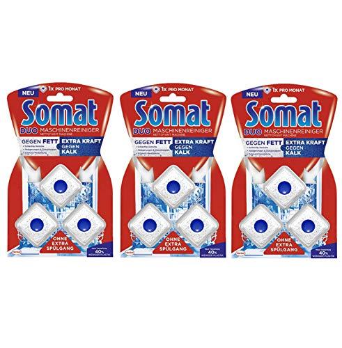Somat Maschinenreiniger-Tabs, 3er Pack (3 x 57 g) hygienisch und sauber, ohne extra Spülgang