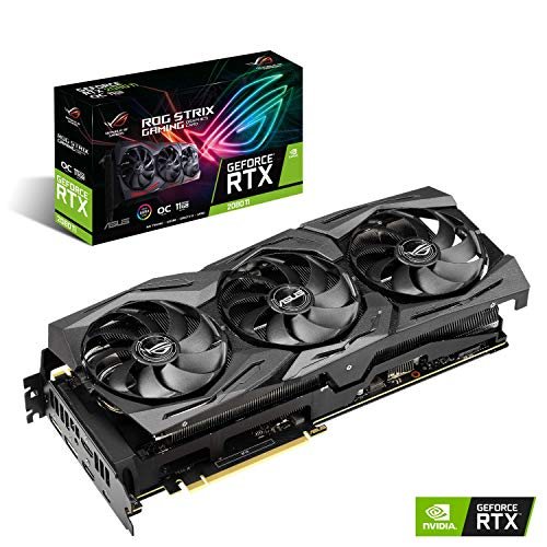 ASUS ROG STRIX NVIDIA GeForce RTX 2080 Ti OC 11G Gaming Grafikkarte (PCIe 3.0, 11GB DDR6 Speicher, HDMI, Displayport, USB Type-C)